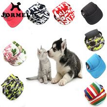 db299915e63 JORMEL Hiking Pet Products Dog Hat With Ear Holes Summer Canvas Baseball Cap  For Puppy Outdoor