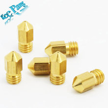 Free shipping !5pcs/lot 3D Printer Nozzle Mixed Sizes 0.2mm/0.3mm/0.4mm/0.5mm Extruder Print Head For 1.75MM MK8 Makerbot