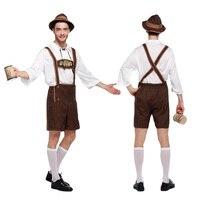 Adult Halloween Costumes For Men Hot German Beer mascot Costume kid Oktoberfest Beer Festival Costume Mens carnival Cosplay