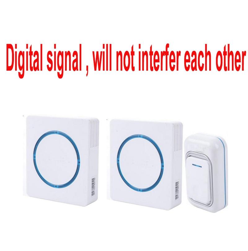 купить 6pcs/lot Waterproof 260M Long-range wireless doorbell,wireless door chime,wireless bell,door bell,48 melodies & 16 chord онлайн