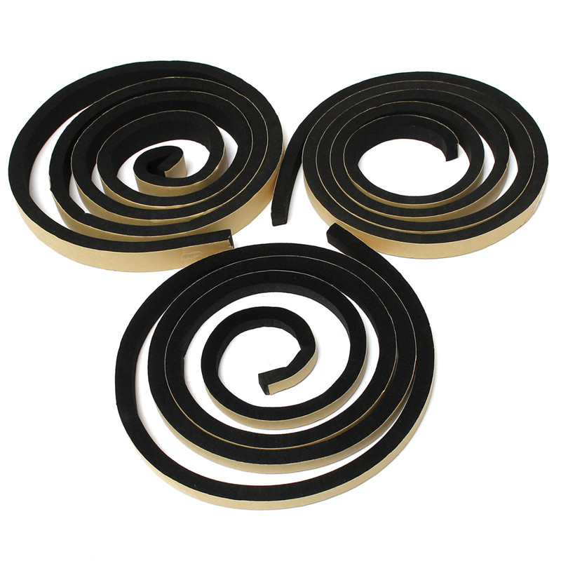 2m EPDM Self Adhesive Foam Sealing Tape Strip Draught Excluder EPDM Rubber Three Sizes Thickness 10mm For Door Window Seal Strip 5m self adhesive seal strip door draught excluder window pile seal film weather strip for door brush seal sealing strip 3 sizes