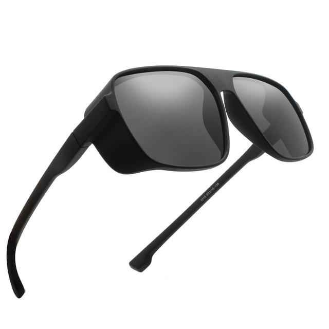 Long Keeper Light-weight Polarized Men Punk Retro Sun Glasses Steampunk Driving  Mirror Reflective Sunglasses Women Goggles 5