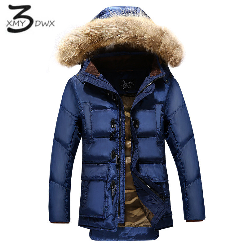 XMY3DWX Men of high grade brand Thickening of the warm long Cotton padded clothes Male High