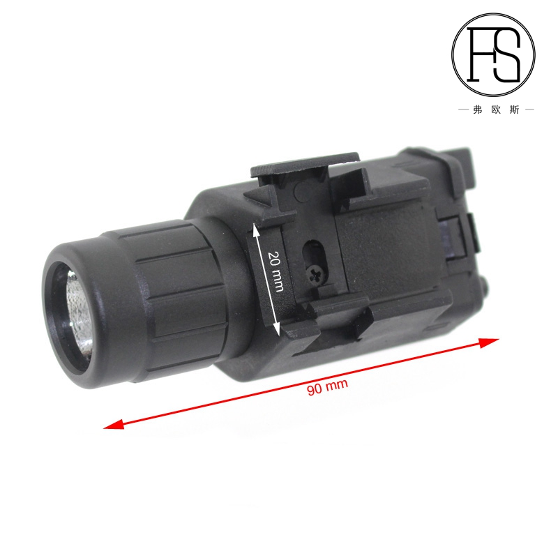 2en1 Tactical Red Dot Laser Sight + LED Flashlight Combo Hunting - Caza - foto 4