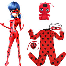 Children Clothing Lady Bug Mask bag and toys Cosplay Sets Ladybug Halloween Christmas Party Custume Kids miraculous Girls Suit(China)