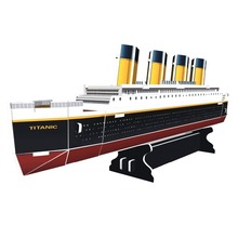 DIY 3D Paper Model Titanic Ship Toy World Famous Boat Architecture Cardboard Puzzle Children Creative-gift Educational Toys