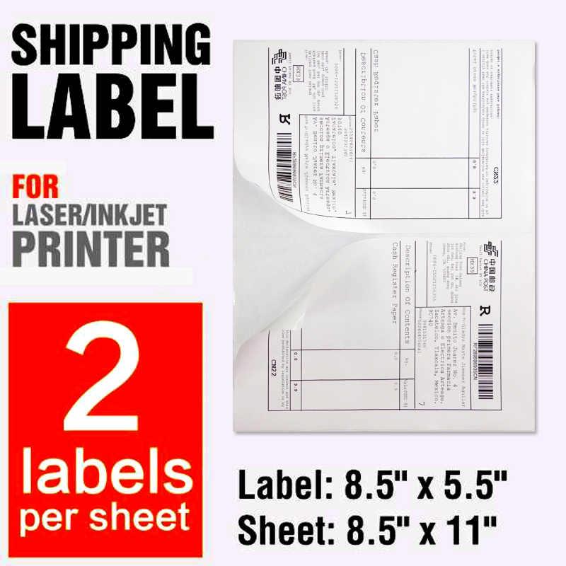 A4 Sticker 100 Half Sheet Self Adhesive USPS Address Label