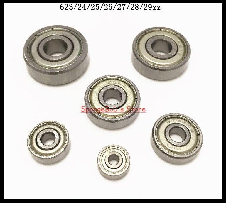 30pcs/Lot 628ZZ 628 ZZ 8x24x8mm Mini Ball Bearing Miniature Bearing Deep Groove Ball Bearing Carbon Steel 5pcs 628 2z zz bearings deep groove ball bearing 8 x 24 x 8mm