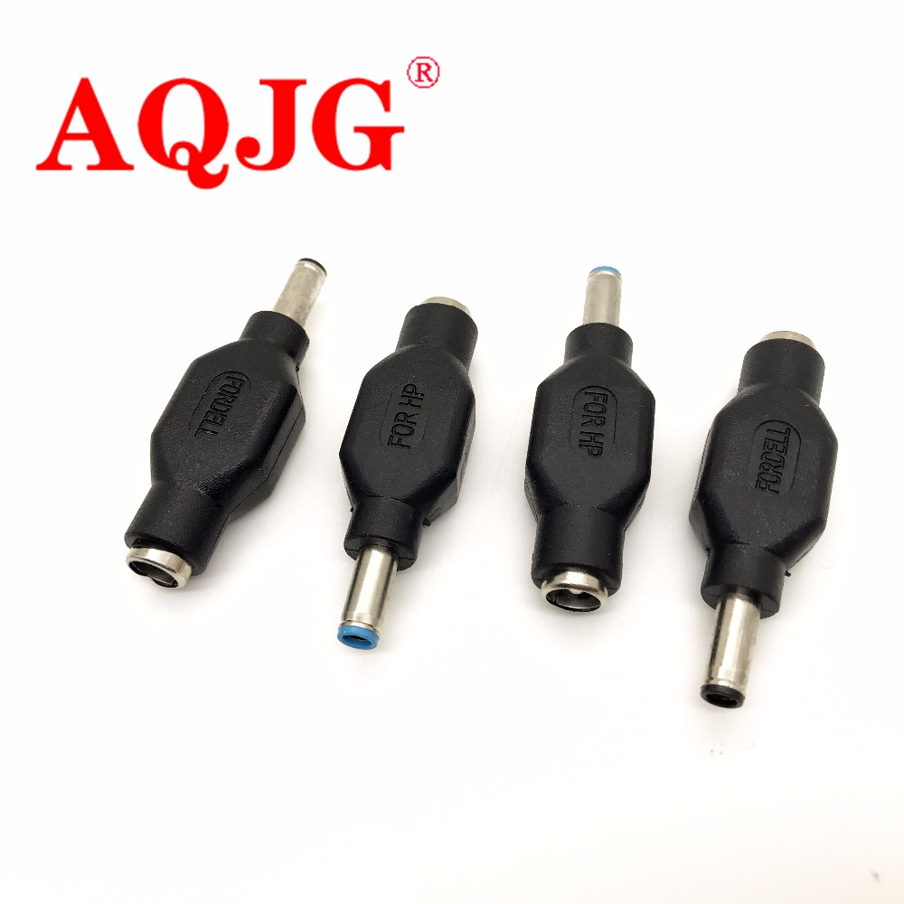 1pcs 4.5 x 3.0 mm DC Male to 5.5 x 2.1mm DC Female Power Plug Adapter Connector 4.5*3.0 jack for DELL for HP Wholesale AQJG все цены