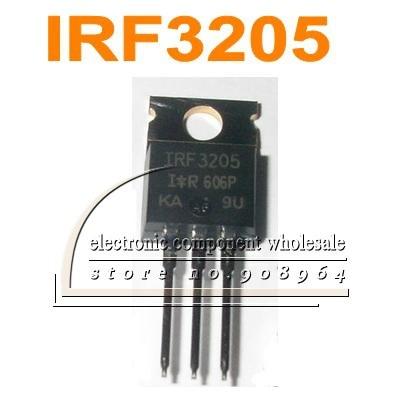 3+Tab IRF 3205 TO-220 Trans MOSFET N-CH Si 55V 98A 3-Pin TO-220AB IRF3205