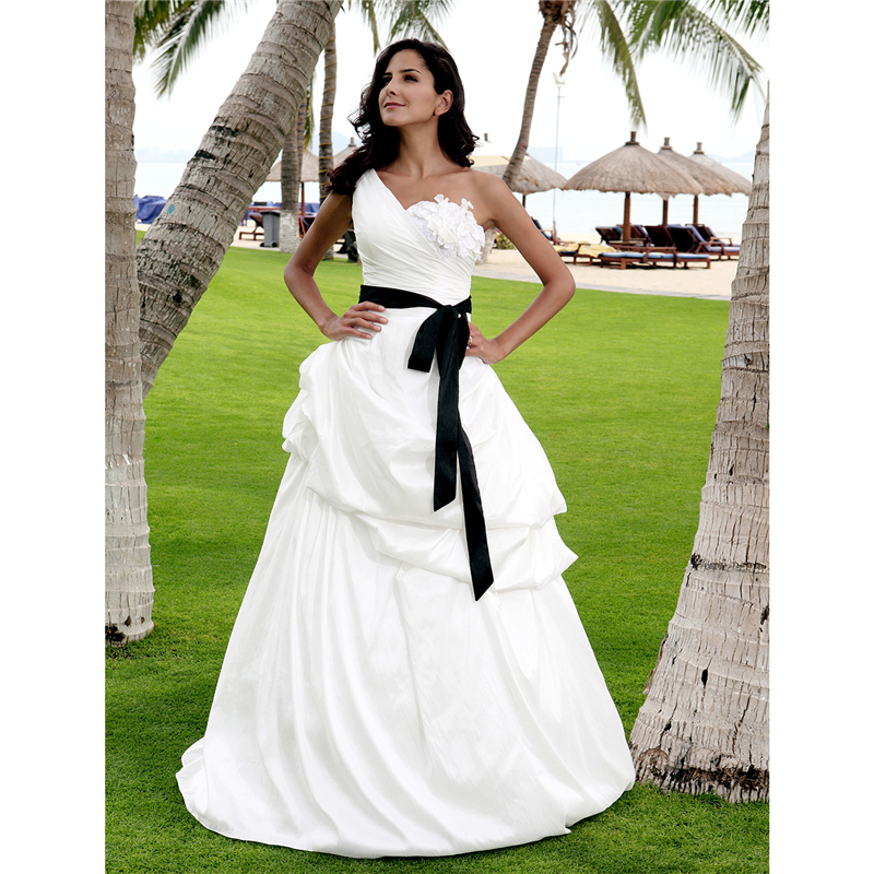 Silk Taffeta Wedding Gowns: Aliexpress.com : Buy LAN TING BRIDE Princess One Shoulder