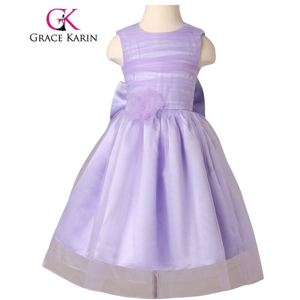 Grace Karin Flower Girls Dresses O Neck Sleeveless Little Girls Ball ...