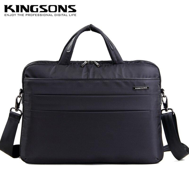 KINGSONS 14 дюймов ноутбука Сумки большой Ёмкость Повседневное сумка для Для мужчин и Для женщин Бизнес Essentials Портфели сумки на плечо