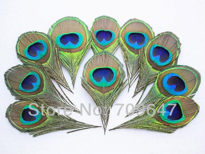 50 шт./лот природа перья с изображением глаза павлина синий Павлиний глаз-материал для вязания мушек