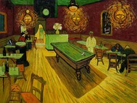 Canvas Wall Picture Scenery Oil Painting for Bedroom Hotel Home Decor The Night Cafe by Vincent Van Gogh Painting Handpainted