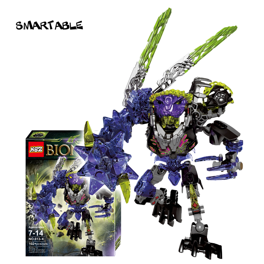 Smartable BIONICLE 102pcs Qurke Beast figures 613-4 Building Block toys Compatible legoing BIONICLE LEPIN Gift lepin 22001 pirate ship imperial warships model building block briks toys gift 1717pcs compatible legoed 10210