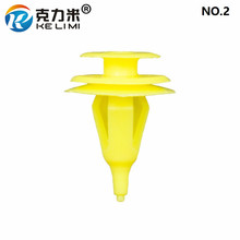 KE LI MI NO.2 Plastic Garnish Retainer Rivet For Toyota Yellow Trim Panel Fastener Clips