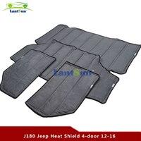 One Kit Car Roof Hardtop Interior Heat Sound Insulation Adiabatic Cover (HL180) for jeep JK wrangler 12 16,4DOOR Lantsun