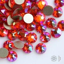 Hyacinth AB SS16 SS20 (16 Cut Faces) Non Hot-fix Rhinestone Flatback Crystal Glass Glue On Rhinestone For Garments Gem
