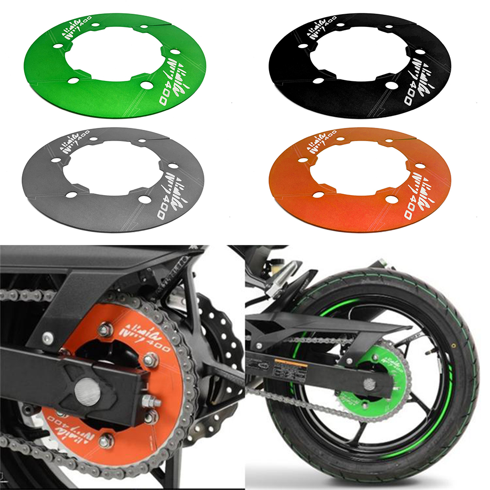 Motorcycle Modified CNC Rear Wheel Gear Cover Drive Wheel Decorative Cover For Kawasaki ninja 400 NINJA400 2018 Accessories in Covers Ornamental Mouldings from Automobiles Motorcycles