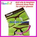 20 pairs T2100 Anti-slip Aumentar Almofadas Nariz de Silicone Adesivo para o Acetato de Óculos de Plástico Óculos De Sol 1.8mm 2.5mm Shippping livre