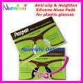 20 pairs T2100 Aumentan Almohadillas de Nariz de Silicona antideslizante Pegatina para el Acetato De Gafas de gafas de Sol De Plástico 1.8mm 2.5mm Método de envío gratis