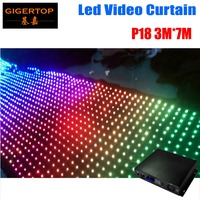 P18 3M*7M Led Vision Curtain 3IN1 Tricolor RGB Led Video Curtain Off Line Mode controller 30Kinds Pattern Make Your Own Program