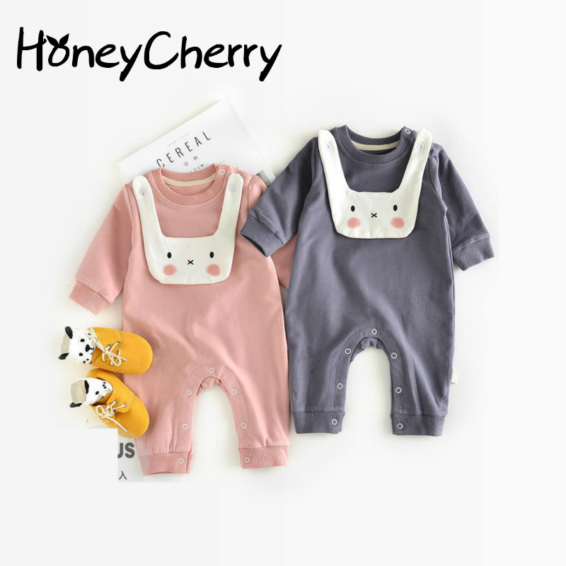 2017 Fall New Cute Rabbit Can Open Stalls Out Clothes Clothes For Newborns Newborn Baby Girl