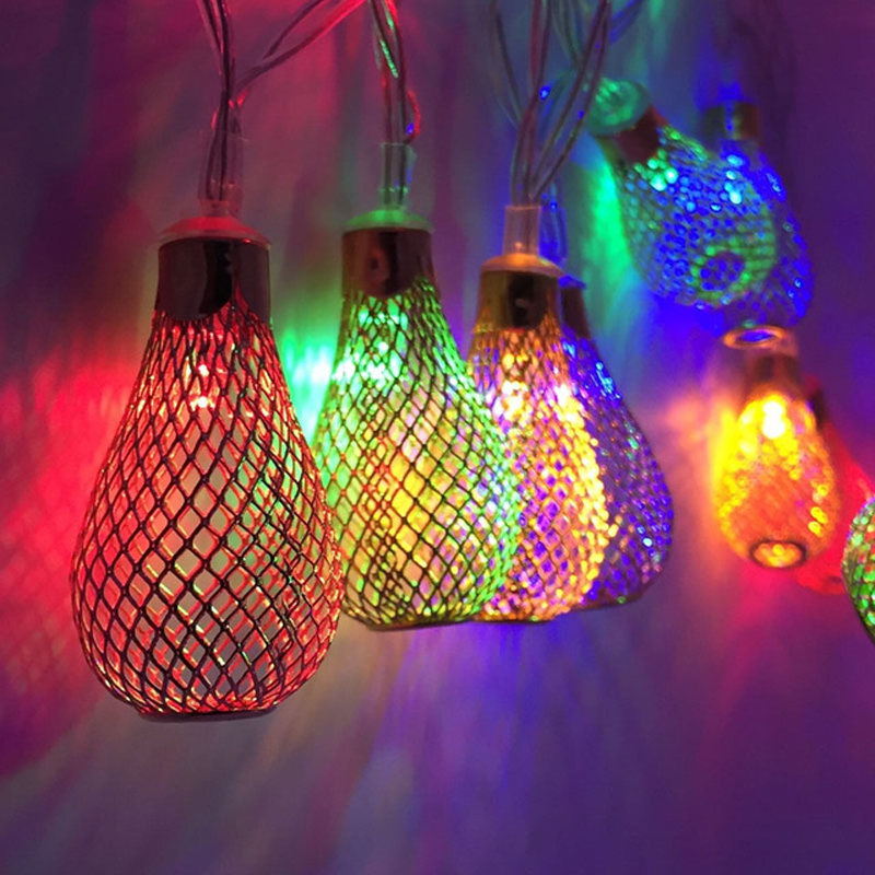 Aliexpress.com : Buy 5m 10m LED String Fairy Lights Outdoor Christmas Ball  Lights Iron Hollow Metal Droplets Wedding Party Decorations From Reliable  Light ...