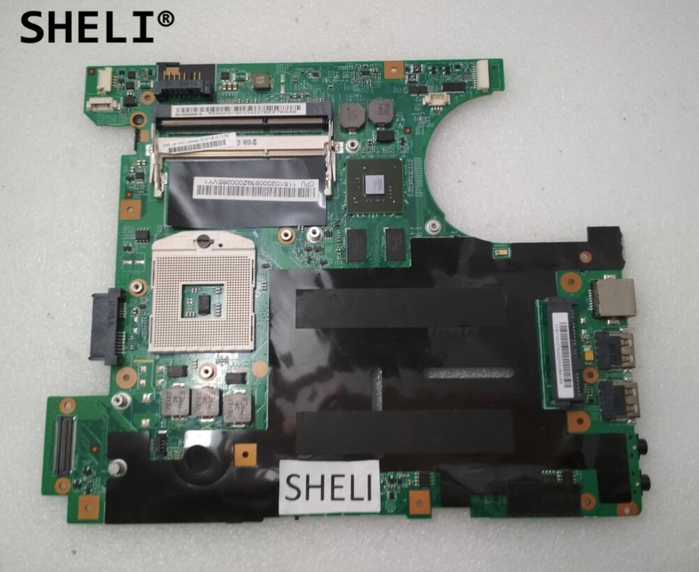 SHELI For Lenovo B460 Motherboard 55.4GV01.311 with N11M-GE2-S-B1 Video Card original new laptop motherboard for asus k52jc rev 2 1 ddr3 n11m ge2 s b1 mainboard