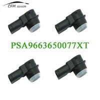 4pcs New Brand PSA9663650077XT PDC Parking Sensor For Peugeot 308 407 RCZ Citroen C5 C6 Capteur