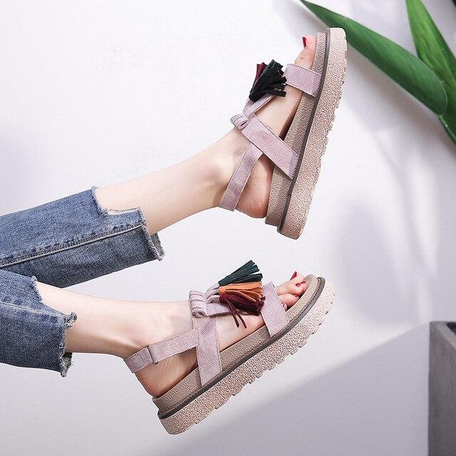 7d6aefe61609 Women Ankle Strap Sandals Cataclou Janitag Summer Nirva Nick SlingBack Bima  Wedge High Heels Shoes Roman Big Plus Size 41 42 43