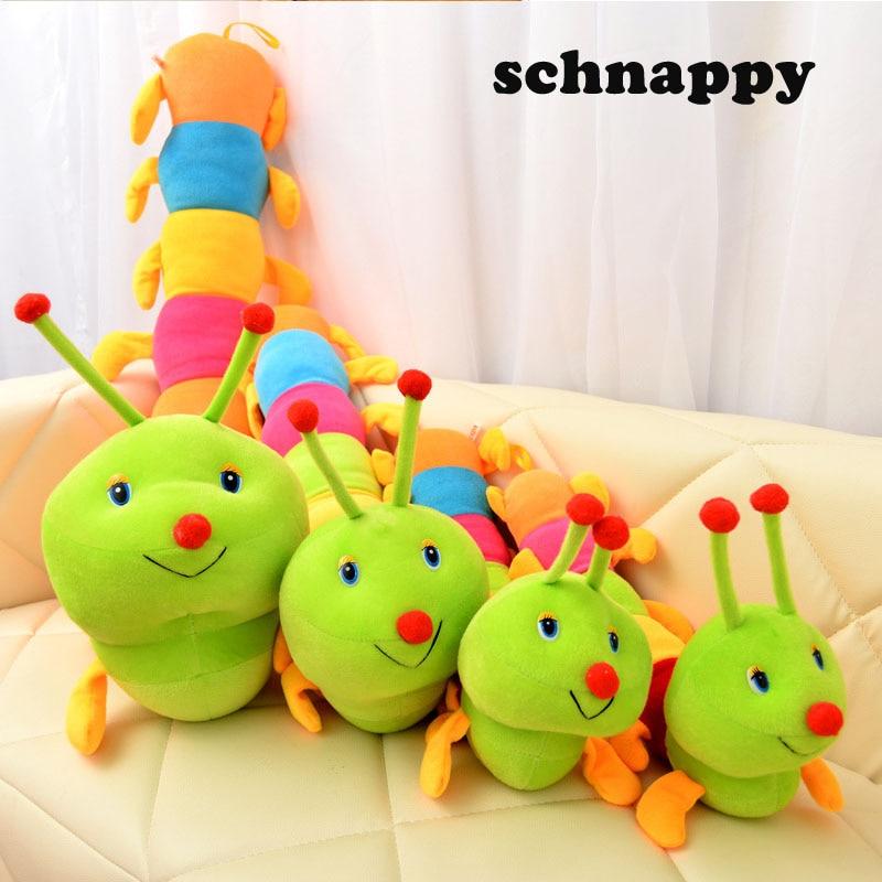 1 шт., 50 см, милые гусеницы, плюшевые игрушки, мягкие плюшевые гусеницы, подушка, куклы, игрушки для детей, детские плюшевые подушки