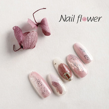 Dried Flower Real Floral 3D Nail Art crystal pearl Decorations UV Gel Polish Natural Slider Set Manicure  D0023