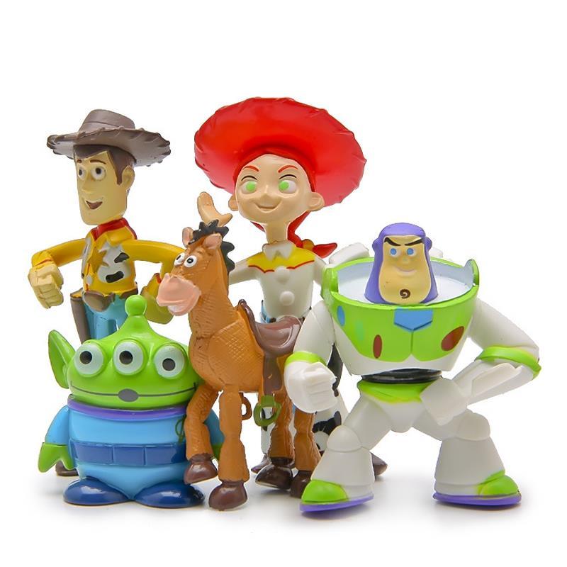 Toy Story Figures : Pcs set toy story mini figures buzz lightyear woody green
