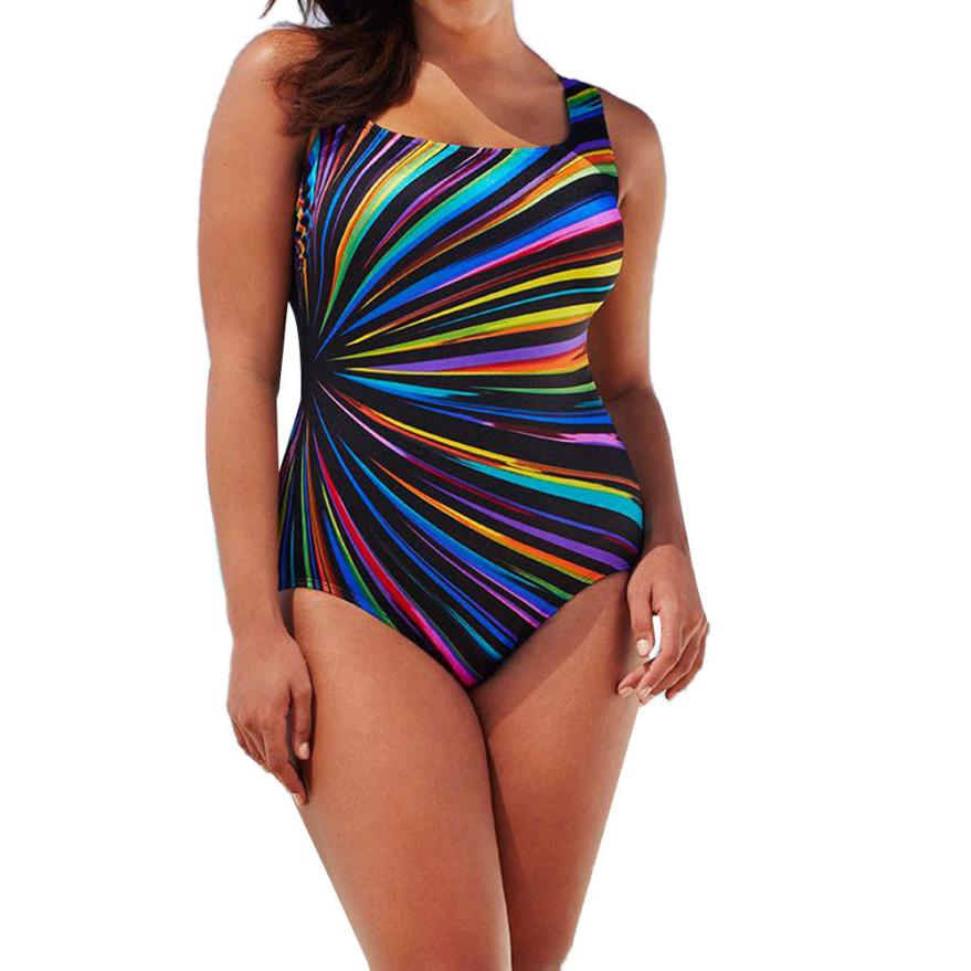 JAYCOSIN 2018 Badeanzug Frauen Heißer-verkauf Kostüm Padded Striped Badeanzug Monokini Bademode Push Up Bh Sets f1