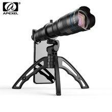 APEXEL HD 36X lente de teléfono cámara teleobjetivo Zoom Monocular lente telescopio + SelfieTripod con obturador remoto para todos los teléfonos inteligentes