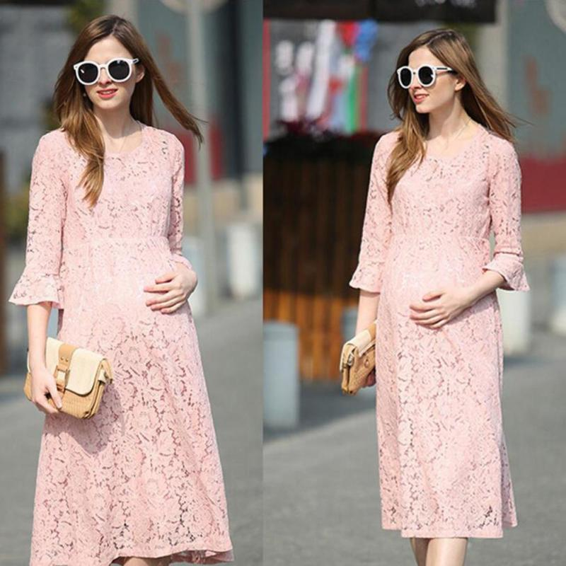 цены Elegent Women Long Dresses Maternity party dress Pregnant Women Pregnancy Women's dress Clothing photo props D3-26B
