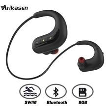 882a7db7158 Ariaksen Bluetooth headphone for Swimming 8GB MP3 music player IPX8  waterproof wireless earphone bluetooth headset earbuds mic
