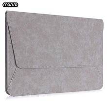 MOSISO PU Leather Laptop Sleeve Bags Case 13.3 inch Notebook Bag for Macbook Air 13 Model A1466 A1369 Pro Retina Cove