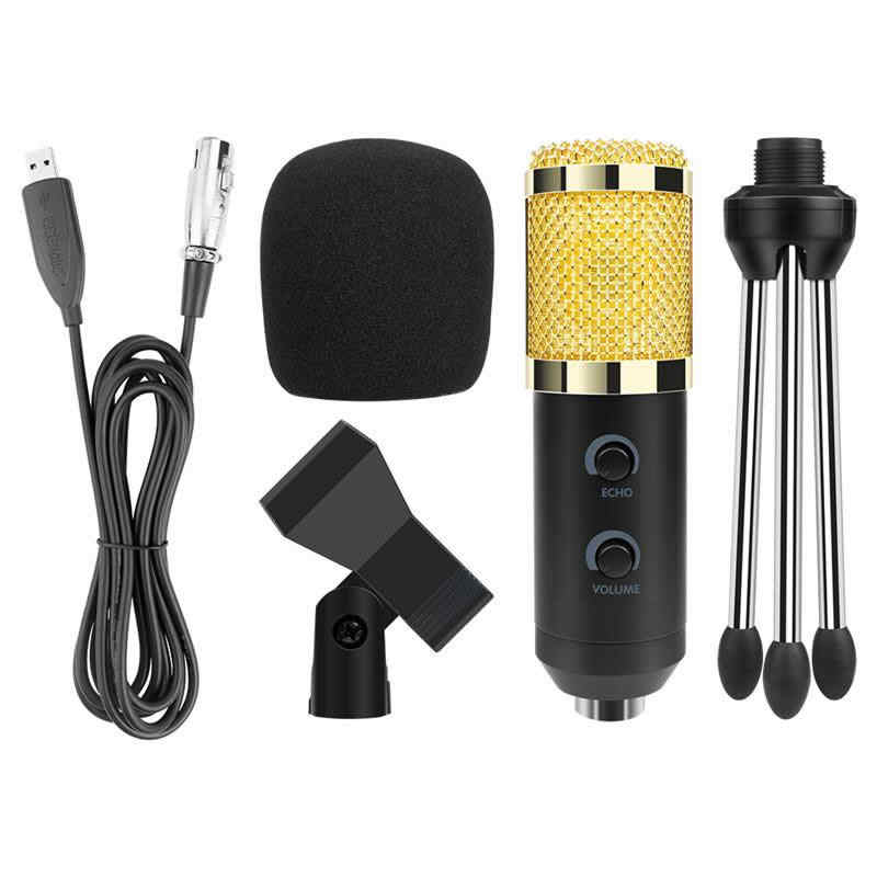 BM900 Professional Condenser Microphone High Quality 3.5mm Wired with USB Power Supply Sound Recording microphone for computer