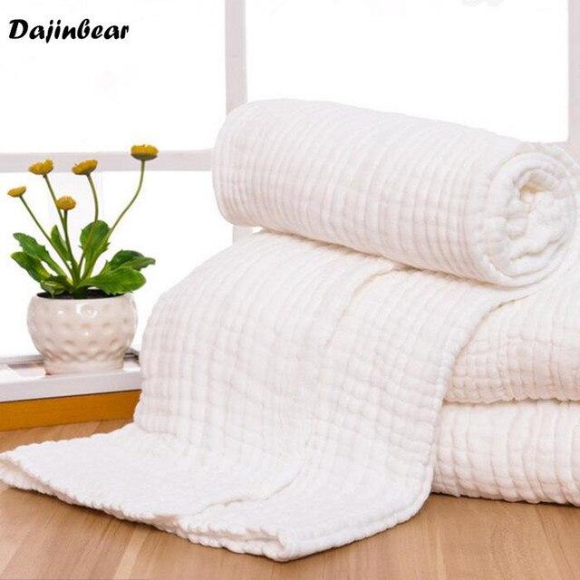 Size 110*115 CM Baby bath towel 100% cotton ultra soft baby gauze towel newborn towel big thick 6 layer High Quality