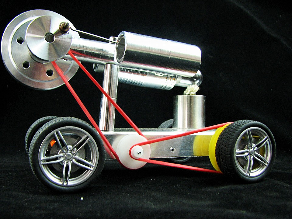 Stirling engine Car  Model Outboard engines  funny toy Physics teaching toy motul outboard tech