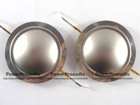 2PCS Diaphragm For Driver Titanium Dome Voice Coil 1 75inch Round Wire 8 Ohm Repair Kit