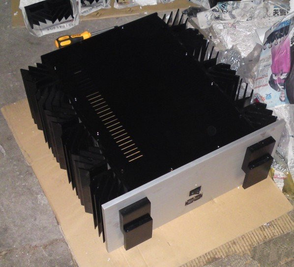 QUEENWAY KSA-250 KRELL appearance CNC Full aluminum amplifier chassis/case BOX DIY 480mm*215mm*520mm  480*215*520mm queenway audio 2215 cnc full aluminum amplifier case amp chassis box 221 5mm150mm 311mm 221 5 150 311mm