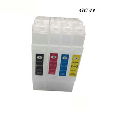 eikshop GC41 Refillable Ink Cartridge with Chip For Ricoh GC41 SAWGRASS SG400 SG800 SG400NA SG400EU Aficio SG2010 SG2100 printer vilaxh sg400 sublimation ink cartridge for ricoh gc41 sawgrass sg400 sg800 sg400na sg400eu aficio sg2010 sg2100 printer