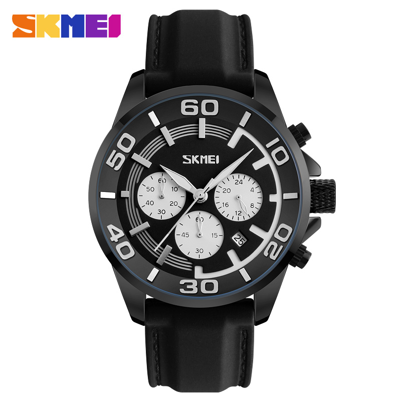 SKMEI Men Fashion Casual Watches Luxury Brand 3ATM Water Resistant Stop Watch S Quartz Wristwatches Relogio Masculino 9154