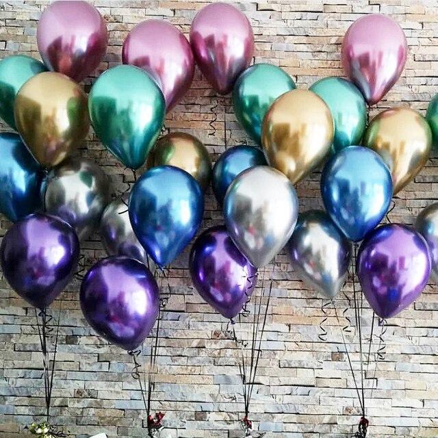 AnQing unicorn đảng 10 PCS Rose gold bong bóng cao su mảnh chrome bóng bay trang trí tiệc sinh nhật trẻ em Kim Loại Bóng Bay