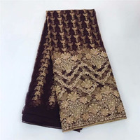 beautiful hand make beads Nigerian fabric JRB 92013 for party dress new African embroiderd lace fabric with small beads