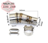 Motorcycle Exhaust Middle Pipe Stainless Steel Muffler Link Pipe Middle Section Adapter Pipe For Kawasaki Ninja